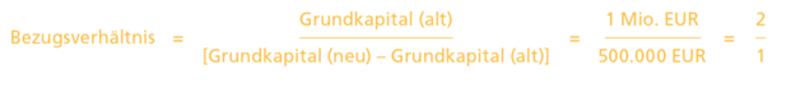 bezugsverhältnis aktien kapitalerhöhung